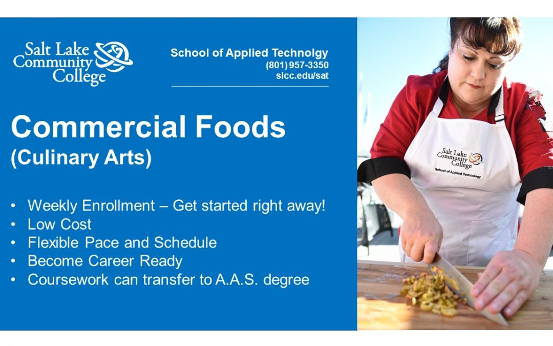 SLCC School of Applied Technology Commercial Foods Certificate Program helps make Fundraiser a Success!